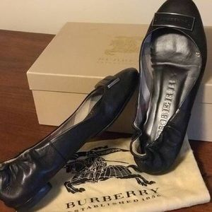 Authentic Burberry ballet leather flats